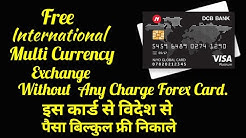 Charges on forex card