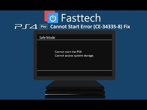 PS4 Pro Cannot Start (CE-34335-8) Cannot Access System Storage Error Repair