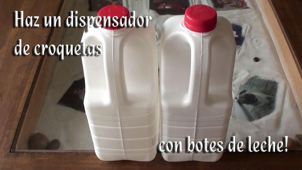 Como hacer un dispensador de croquetas con botes de leche for Como cocinar alubias de bote