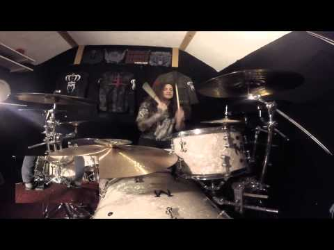 "Lacuna Coil - ""Zombies"" drum play through"