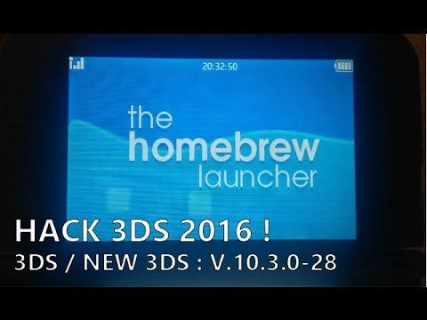 [HACK 3DS 2016] Homebrew Launcher et save manager en 10 5 0-30 !