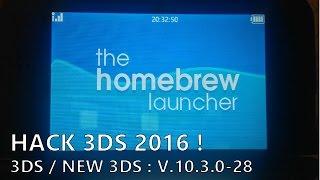 [HACK 3DS 2016] Homebrew Launcher et save manager en 10.5.0-30 !
