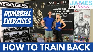 How To Train Back || Dumbbell Exercises || Exercise Demonstrations || Back || Lats || Traps || Rows