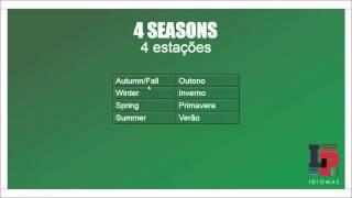 As 4 estações em inglês