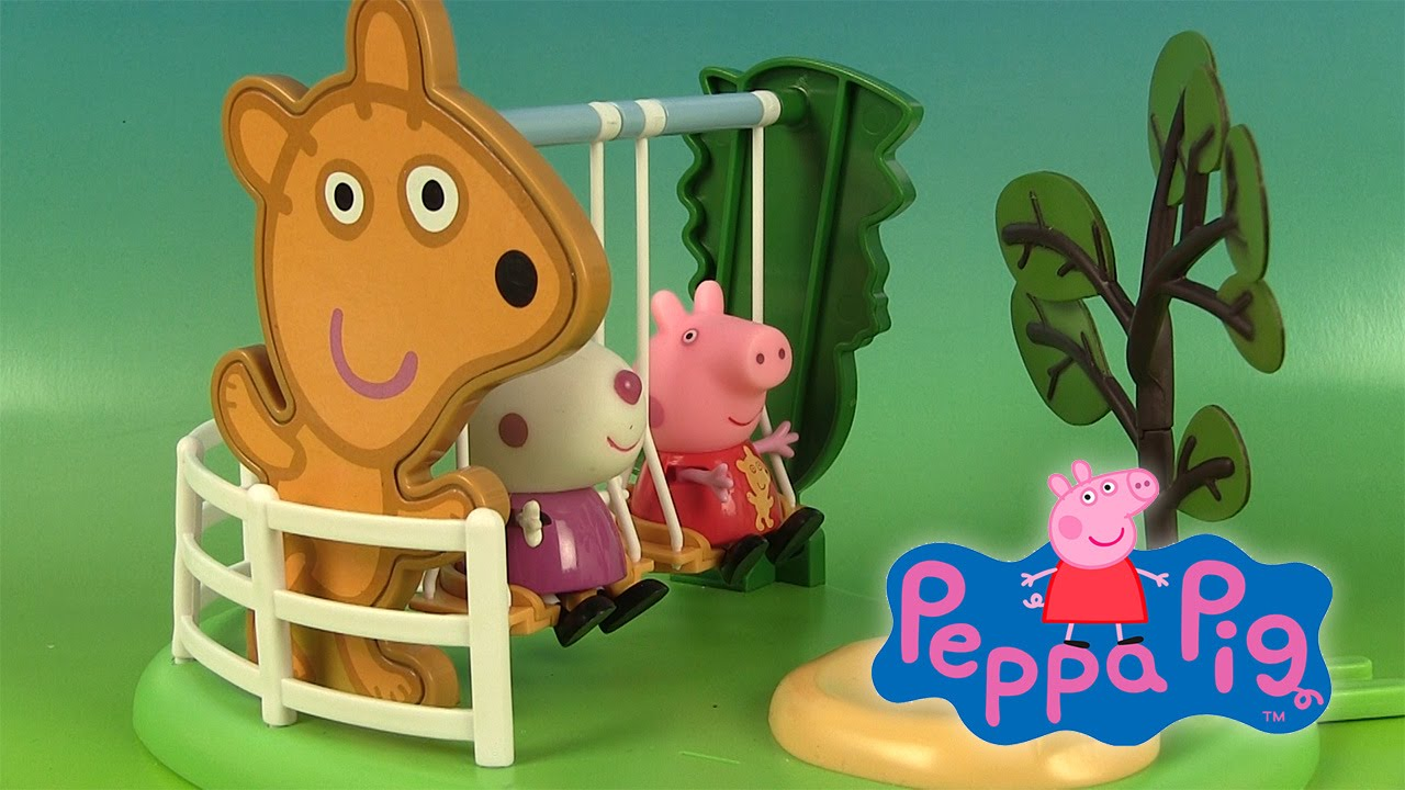 peppa pig jouets aire de jeux balan oire peppa s outdoor fun swing youtube. Black Bedroom Furniture Sets. Home Design Ideas