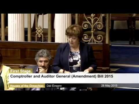 Catherine Murphy introduces a bill to permit the C&AG investigate #Siteserv and other transactions