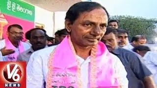 Grand Welcome to TRS Chief KCR in Hyderabad