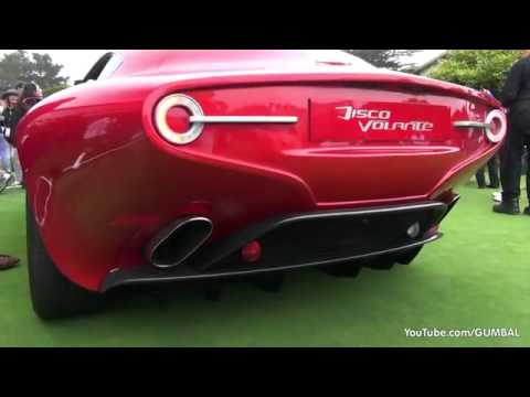 Alfa Romeo Disco Volante Touring Superleggera Start Up Plus Sound Youtube