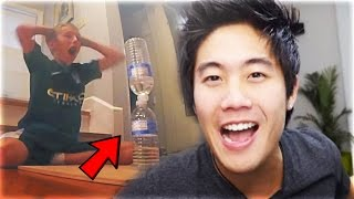 Top 10 MOST INSANE Water Bottle Flip TRICKSHOTS! (Best Luckiest Bottle Flip Trickshots)