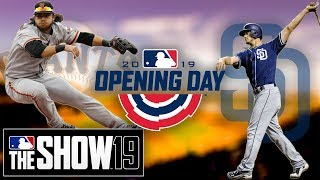 Giants Franchise Ep. 1 | Giants vs Padres Opening Day | MLB The Show 19