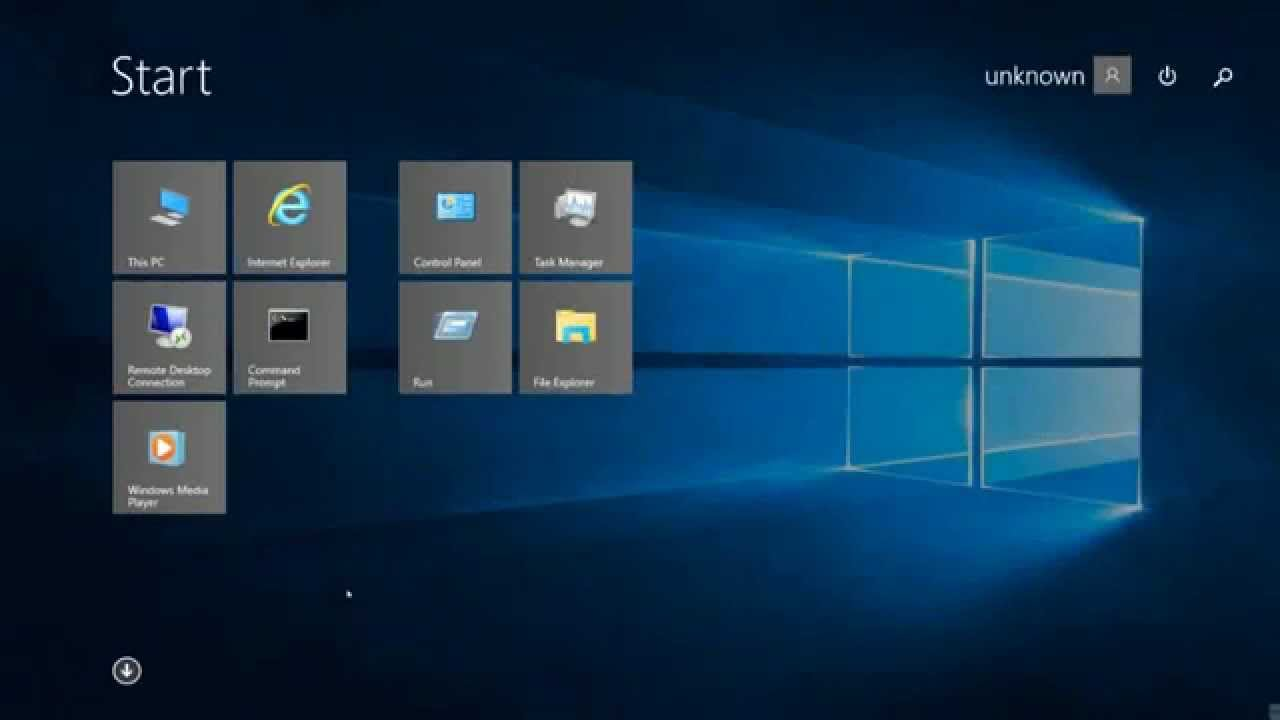 Windows 8 1 Start Screen In Windows 10 Rtm