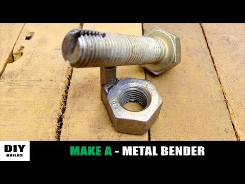 Make A Metal Bender With Nut And Bolt | Homemade Tools | Diy Tools | Diamleon Diy Builds