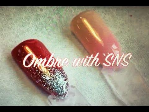 SNS Ombre Nails Tutorial 2018