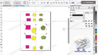 Como Alinear y Distribuir Objetos en  Corel Draw X7