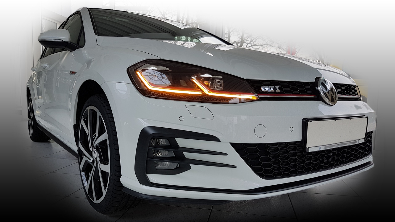 vw golf 7 mkvii gti facelift update gp 2018 led lichter active info display animierte blinker. Black Bedroom Furniture Sets. Home Design Ideas