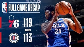 Full Game Recap: 76ers vs Clippers | Embiid Leads Sixers