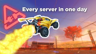 I played in every single Rocket League server (EXTREME LAG CHALLENGE)