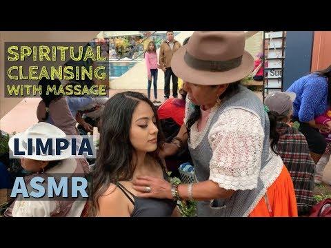 Spiritual Cleansing with Massage (LIMPIA ESPIRITUAL) with Doña Natividad, ASMR in Ecuador