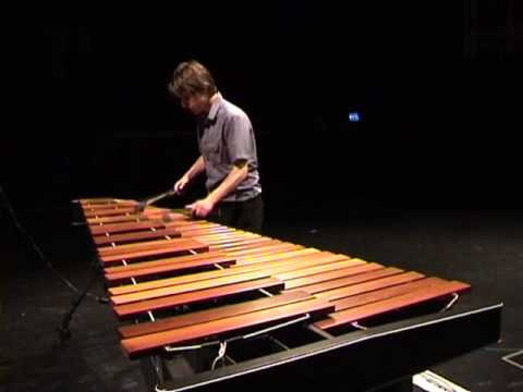 Bach - Fugue from Sonata No.1 in G minor for Solo Violin (on the marimba)