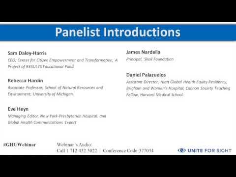 Careers in Global Health Webinar  Thinking Outside the Box