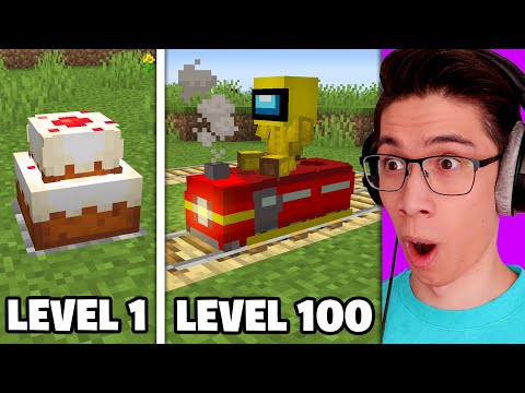 Testing Minecraft Build Hacks From Level 1 to Level 100