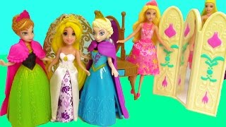 disney frozen toys queen elsa princess anna of arendelle magiclip mini barbie dolls