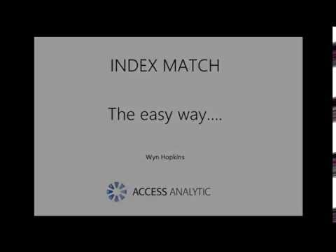 INDEX MATCH - The easy way