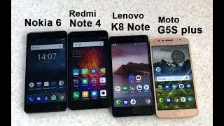 Nokia 6, K8 Note, Note 4, G5S Plus: Display, camera performance and design