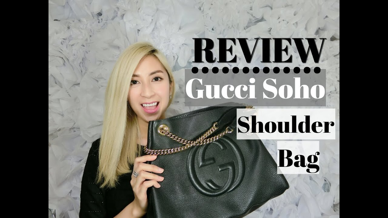 51b1432545d GUCCI SOHO LEATHER SHOULDER BAG REVIEW – Black with Gold Hardware ...