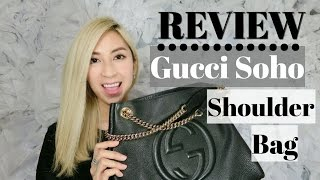 GUCCI SOHO LEATHER SHOULDER BAG REVIEW – Black with Gold Hardware | Minimalist Style