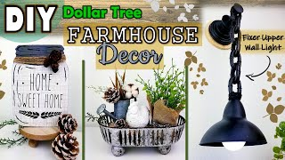 DOLLAR TREE DIY | NEUTRAL FARMHOUSE DECOR | Wall Lighting DIY