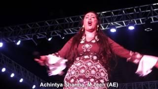 María del Mar Fernández performing/ singing Senorita song at Amity Youth Fest-2017, Amity University