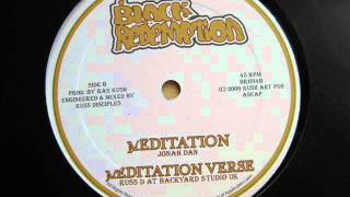 "10"" Side B: 1. Jonah Dan - Meditation / 2. Russ D at Backyard Studio UK - Meditation Verse"