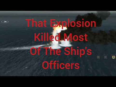 The sinking of the Bismarck animation