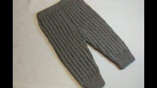 Вязание спицами детские штанишки #217