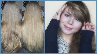 видео осветление волос перекисью!