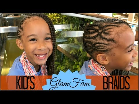 Intricate Children's braided hairstyle