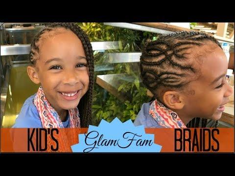 Intricate Children's Braided Hairstyle