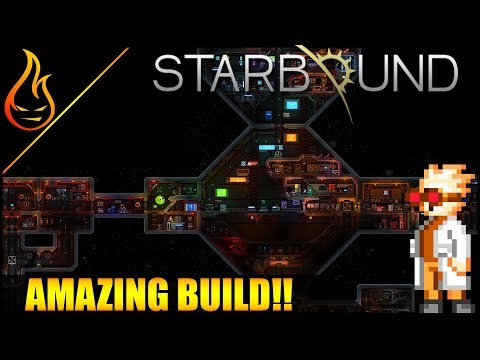 Starbound Epic Space Station Build