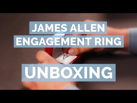 James Allen Diamond Engagement Ring Unboxing