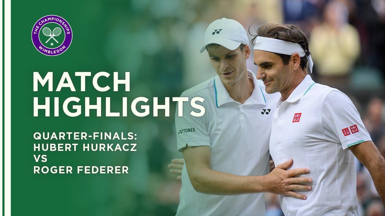 Hubert Hurkacz vs Roger Federer | Quarter-Final Highlights | Wimbledon 2021