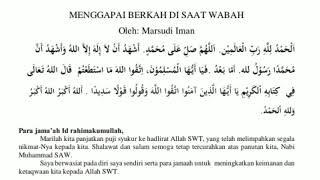 Contoh Khutbah Singkat Idul Fitri Beserta Teks  Saat Covid-19