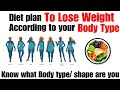 Eat & Exercise According to your body Type/ Shape to Lose Weight | Weight Loss Diet Plan | In Hindi