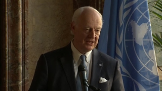 UN Envoy to Syria de Mistura on chemical attack   it was a horror