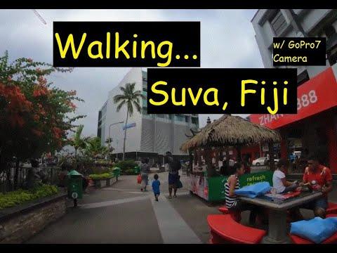 SUVA, FIJI - Walking (w/ GoPro7 Camera). View Fiji's Largest City Streets And It's Biggest Mall.