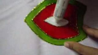 creative crafts part 4 - Rangoli design with glass paints