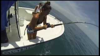 Jacked Up Girls Fishing At Canaveral