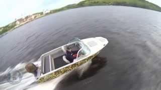 Видео лодки Волжанка 46 классик - тест драйв..