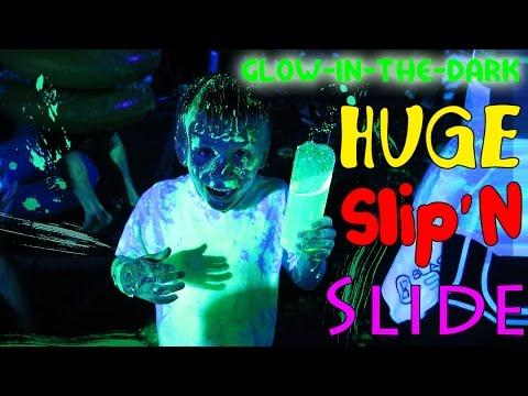 Black Light Slide HUGE FUN!!