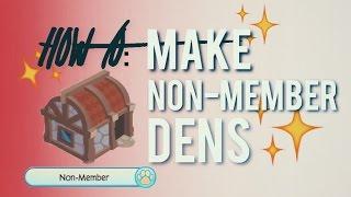 animal jam how to make non member dens